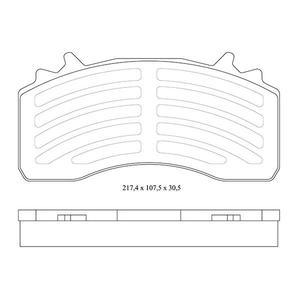 4 plaquettes de frein avant et arrière pour MAN TGS et TGX - Ref : 29279009203