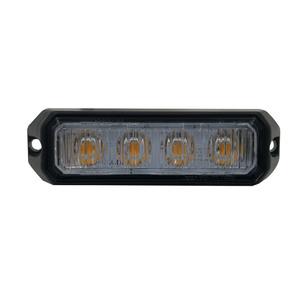 Feu de pénétration ORANGE 4 LED, 18mm