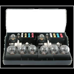 Coffret de secours 24V H4x2 (14 lampes + 8 fusibles) pour camions (PL)