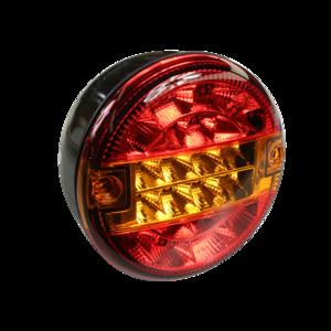 Feu arrière rond LED multifonction