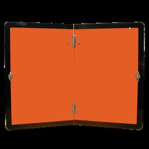 Rectangle orange pliable vertical ADR, pour transport de matières dangereuses