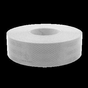 Bande rétroréfléchissante ADR CE104 blanche rigide 50 mètres