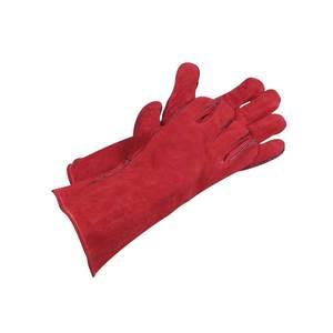 Gants rouges en peau
