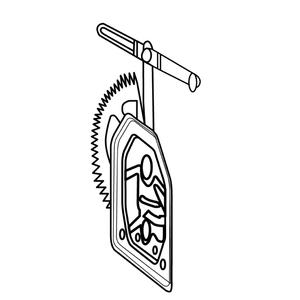 Lève-vitre électrique, avec moteur, gauche, pour SCANIA
