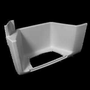 Marchepied inférieur gauche blanc sans trappe pour MAN TGA XL/XXL,TGX