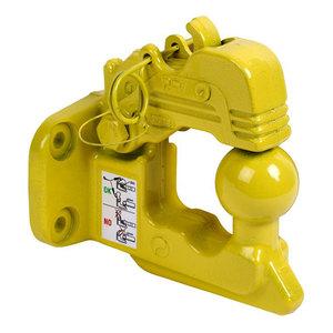 Crochet d'attelage mixte 4 trous, 90x40mm, pour utilitaires