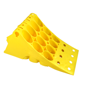 Cale de roue pour camions et remorques poids-lourds, jaune ADR