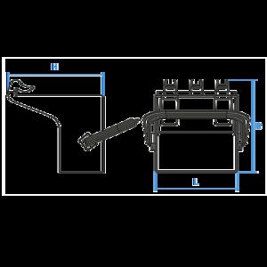 support de cale de roue plastique pour cale de roue. Black Bedroom Furniture Sets. Home Design Ideas