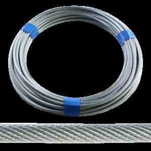 Rouleau de 20m, câble zingue, diamètre 6 mm pour 3 essieux