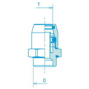 Union mâle rapide  16x1,5. D8, raccord pour circuit air comprimé PL