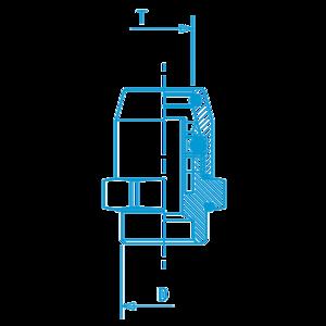 Union mâle rapide 12x1,5. D8, raccord pour circuit air comprimé PL