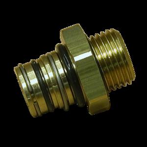 Embase métallique P5 M16x1,5, pour circuit air comprimé PL