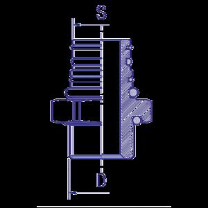 Embase métallique P5 M22x1,5, raccord pour circuit air comprimé PL