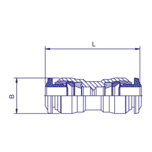 Union double rapide D8, raccord pour circuit air comprimé PL - Ref : 70220