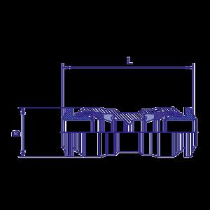 Union double rapide D10, raccord pour circuit air comprimé PL - Ref : 70221