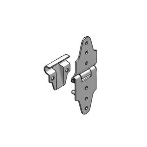 Guide pour charnière support roulette + 4 vis finition zinguée