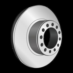 Disque de frein, diam 378, pour ESSIEU ROR, avec couronne ABS, 10 trous - Ref : 8016002