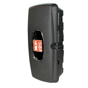 Coffre pour extincteur 6kg, noir avec hublot