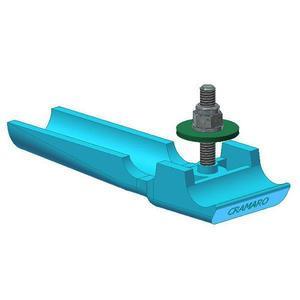 Patin glisseur bleu avec vis incorporées