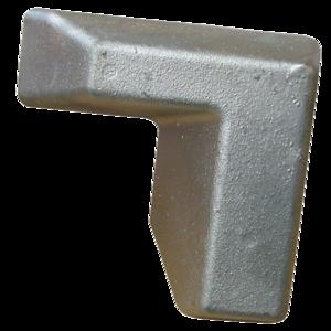 Butoir angle gauche galva, pour semi-remorques, remorques poids-lourds