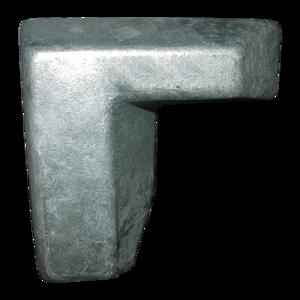 Butoir angle droit galva pour semi-remorques, remorques poids-lourds